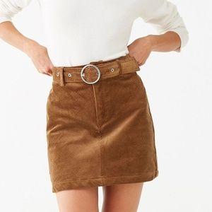 Corduroy Belted Skirt NWOT